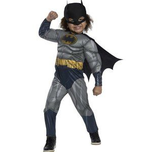 NWT Rubie's Batman Toddler Costume Muscle Chest 2T